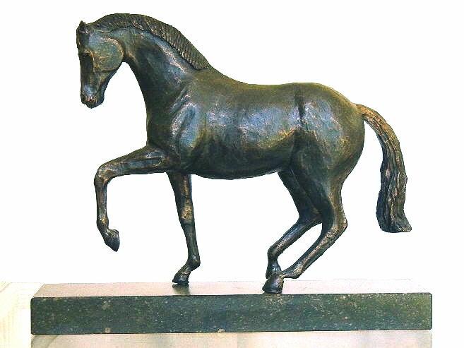 Het paard in piaffe